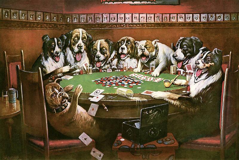 שחקני פוקר בשולחן